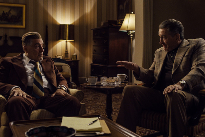 Al Pacino y Robert De Niro en 'The Irishman'. Crédito: Netflix